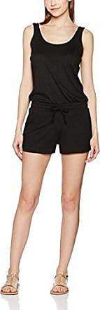 Urban Classics Ladies Melange Hot Jumpsuit, Mono Largo para Mujer, Negro (Black/Black 825), XL