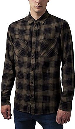 Checked Flanell Shirt, Camisa Casual para Hombre, Multicolor (Blk/Wht 50), XXXXX-Large Urban Classics
