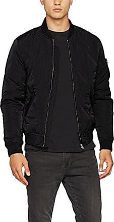 Diamond Quilt Velvet Jacket, Chaqueta para Hombre, Negro (Black), X-Large Urban Classics