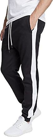 2-Tone Interlocktrack Pants, Pantalones Deportivos para Hombre, Mehrfarbig (Black/White 00826), W38 Urban Classic