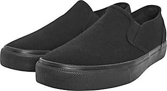 Urban Classics Unisex-Erwachsene Low Sneaker Slip on, Mehrfarbig (Blk/WHT), 47 EU