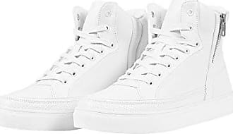 Urban Classics Zipper High Top Shoe Haute pour Adulte Unisexe Sneakers - Blanc - Weiß (White 220), 40