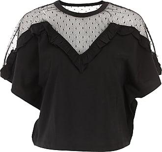 T-Shirt for Women On Sale, Black, Cotton, 2017, 10 6 8 Valentino