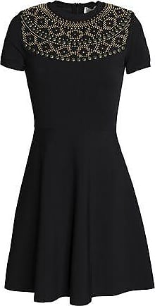 Valentino Woman Studded Cady Mini Dress Black Size S Valentino Cheap Sale Extremely TnCLFQ