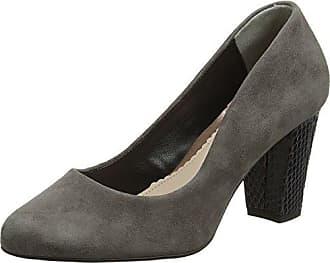 Van Dal 2606 - Zapatos de Tacón con Punta Cerrada de Otra Piel Mujer, Color Gris, Talla 40