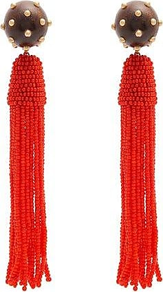 Cube tassel-drop earrings Vanda Jacintho ryrsL
