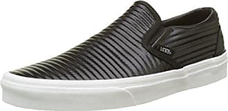 Vans Damen Classic Slip-on Platform Leather Sneaker, Mehrfarbig (Embossed/Black/Blanc De Blanc), 38 EU