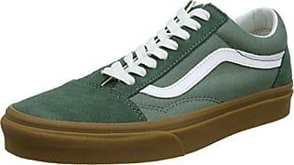 Vans Old Skool, Baskets Mixte Adulte, Vert (Duck Green/Gum Q9v), 44.5 EU