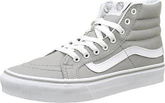 Vans UA Sk8-Hi Slim, Sneakers Hautes Femme, Gris (Drizzle/True blanc), 34.5 EU