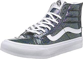 UA Sk8-Hi Slim, Sneakers Hautes Femme, Gris (Metallic Dots Dark Gray/Pewter), 36 EUVans