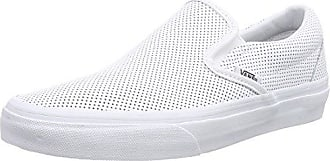 Vans Damen Classic Slip-on Laufschuhe, Elfenbein (Birch/Blanc De Blancmoto Leather), 42.5 EU