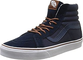 UA Sk8-Hi Reissue, Sneakers Hautes Homme, Bleu (Neon Leather Dress Blues/Neon Red), 40 EUVans