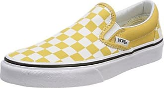Vans Classic Slip-on, Baskets Enfiler Femme, Vert (Checkerboard), 35 EU
