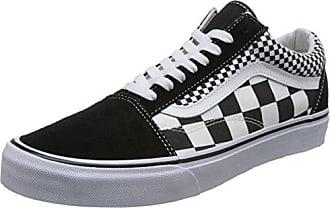 Vans Authentic, Baskets Mixte Adulte, Noir (Mix Checker), 44 EU