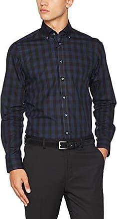 001480, Chemise Business Coupe Cintrée Col Chemise Classique Manches Longues Homme, Bleu (Blau 111), 35 (Taille Fabricant: L)Venti