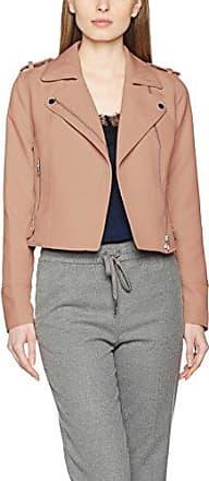Vero Moda Vmhannah Short Fake Suede Jacket, Chaqueta para Mujer, Marrón (Cognac), 38 (Talla del Fabricante: Medium)