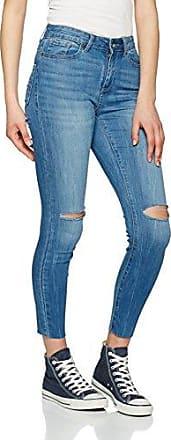 Vero Moda Vmnine HW Slim Uneven Ankle Jeans, Jeans Mujer, Azul (Medium Blue Denim), W28/L32 (Talla del Fabricante: 28)