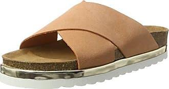 Vmlisa Leather Sandal, Sandalias Planas Mujer, Rosa (Shrimp), 39 EU Vero Moda