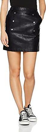 Vero Moda Vmcameo NW Short PU Skirt, Falda para Mujer, Negro (Black Beauty Black Beauty), 34 (Talla del Fabricante: X-Small)