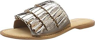 Vero Moda Vmthea Leather Sandal, Mocassins Femme, (Pale Gold), 36 EU