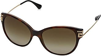 Versace 0VE2185 14122L, Occhiali da Sole Donna, Marrone (Havana/Browngradient), 54