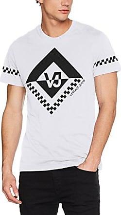 EB3GQB7T4, Camiseta para Hombre, Blanco (Bianco Ottico E003), XXL Versace Jeans Couture