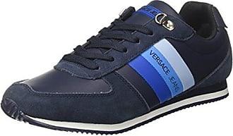 Versace Jeans EE0YRBSA1_E70013, Zapatillas para Hombre, Multicolor (Nero/Bianco Ottico Emhu), 40 EU