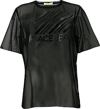 Geniue Stockist Sale Online sheer T-shirt - Black Versace Jeans Couture Outlet Comfortable Buy Cheap Top Quality EwPOK5