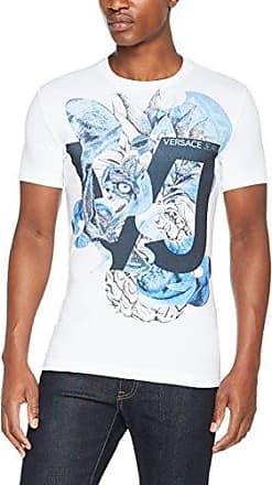 EB3GRA7P8 E68036, Camiseta para Hombre, Azul (Bluette E202), Large Versace Jeans Couture