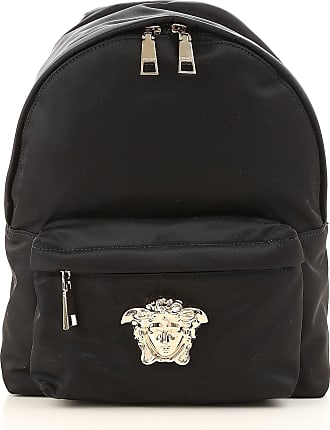 Backpack for Women On Sale, Black, Nylon, 2017, one size Versace