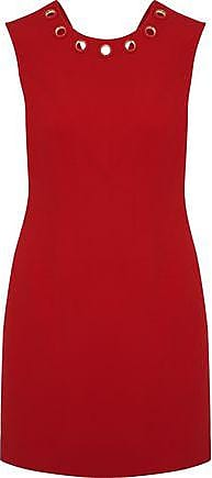 Versace Woman Eyelet-embellished Crepe Mini Dress Crimson Size 40 Versace Classic Cheap Online Cheap Low Price Fee Shipping Cheap Fashionable sut0lFcAnm