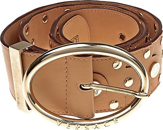 Womens Belts On Sale, nut, Leather, 2017, 32 inches - 80 cm 38 inches - 95 cm Versace