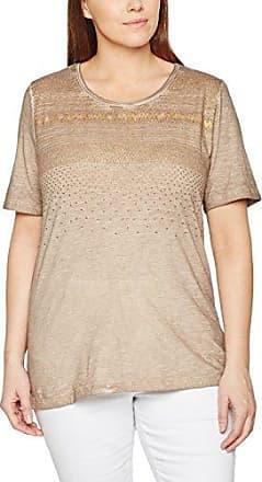 Via Appia Due T-Shirt Rundhals 1/1 Arm, Camiseta de Manga Larga para Mujer, Marrón (Cognac 750), 54
