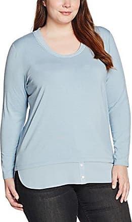 Via Appia Due T-Shirt V-Ausschnitt 3/4 Arm, Camiseta para Mujer, Azul (Marine), 44 (44)