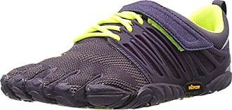 Vibram V-run, Zapatillas Mujer, Multicolore (noir / Jaune / Violet), 42 Eu