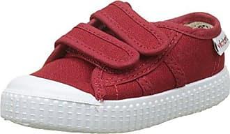 Victoria Basket Lona Dos Velcros, Zapatillas Unisex Bebé, Rojo (Carmin), 20 EU