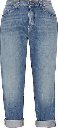 Victoria, Femme Victoria Beckham Recadrée Jeans Bootcut Appliques Lumière Denim Taille 27 Beckham Victoria