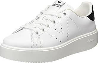 Victoria Deportivo Piel Perforado, Sneaker Unisex-Adulto, Bianco (Blanco), 36 EU