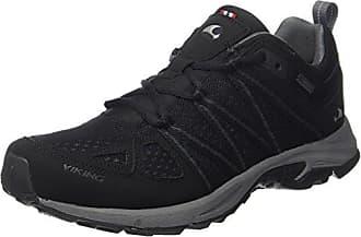 Viking 3-45760, Chaussures de Randonnée Basses Homme - Noir - Noir (Black/Grey 203), 44 EU