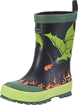 Viking Frost Fighter, Botas de Nieve Unisex Niños, Verde (Olive/Black 3702), 24 EU