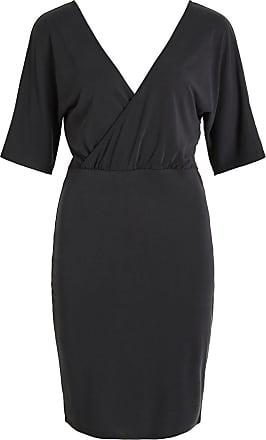 2/4-ärmel Kleid Dames Zwart Vila
