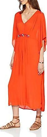 Vila Clothes Viadisa Caftan, Vestido de Fiesta para Mujer, Naranja (Orange.Com Orange.Com), 38 (Talla del Fabricante: 36)
