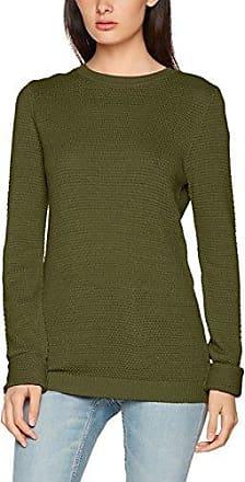 Vila CLOTHES VILIKA L/S KNIT TOP TB, suéter Mujer, Gris (Ebony), 38 (Talla del fabricante: Medium)