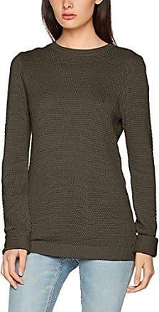 Vila Clothes Vicant Wrap Knit Top-Noos, Suéter para Mujer, Gris (Dark Grey Melange), 38 (Talla del Fabricante: Medium)