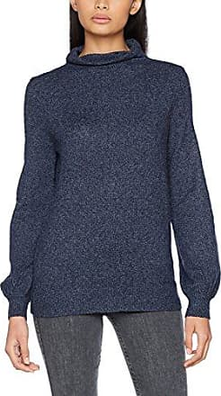 Clothes Vispecific L/s Knit Top, Pull Col Roulé Manches Longues Femme, Bleu (Dark Navy), 34 (Taille Fabricant: X-Small)Vila
