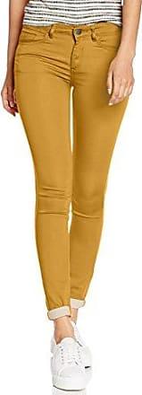 Vila CLOTHES VICOMMIT RW 5P JU-NOOS - Pantalones Mujer, color Amarillo (Wood Thrush), talla 36 (Talla del fabricante: S/27-28)