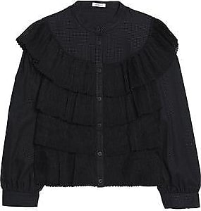 Fake Cheap Price Vilshenko Woman Embroidered Velvet-paneled Cotton And Silk-blend Faille Shirt Black Size 10 VILSHENKO Inexpensive Online Clearance Latest Collections Al8N8Rv
