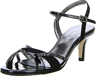 Vista Damen Sandaletten schwarz, Größe:36, Farbe:Schwarz