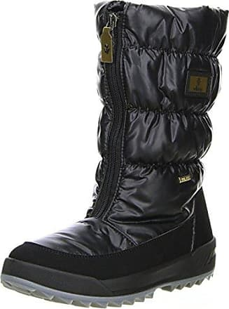 HooH Damen Schneestiefel Winter Warm Full Faux Fur Fold Handmade Stiefeletten Schwarz 40 EU I5PEe