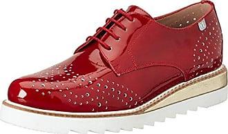 Gill, Weite G, Damen Derby Schnürhalbschuhe, Rot (Rosso/Creme 4112), 41 EU (7.5 Damen UK)Ganter